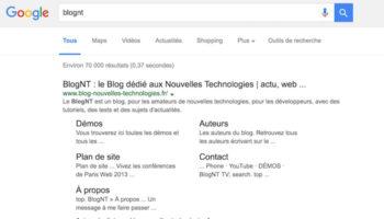 Google teste des résultats en noir au lieu du bleu, et cela semble déplaire