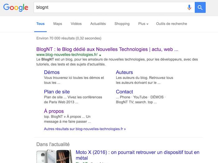 Google teste des résultats en noir au lieu du bleu : pas sûr que cela soit adopté