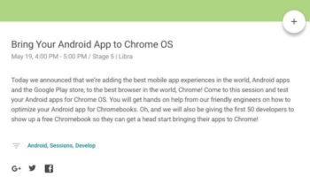 IO 2016 : Le Google Play Store et les apps Android arrivent sur Chrome OS