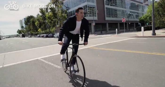 Une veste en jean conçu pour les cyclistes urbains