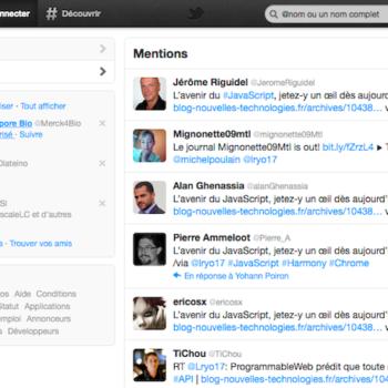 La nouvelle interface Twitter disponible pour tous – Page interactions