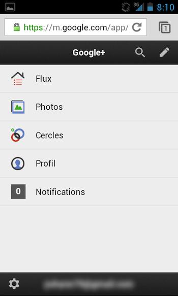 La version mobile de Google+ se dote d