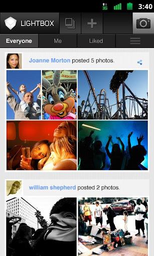 Lightbox pour Android, une alternative très sérieuse à Instagram - Application Lightbox
