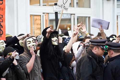 Manifestation des Anonymous aujourd