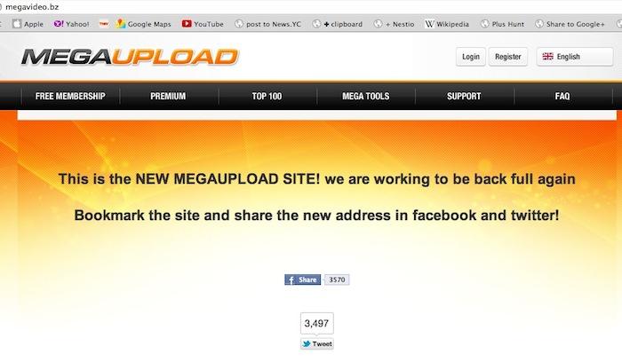Megaupload is back ? Le retour avec un nouveau nom de domaine...