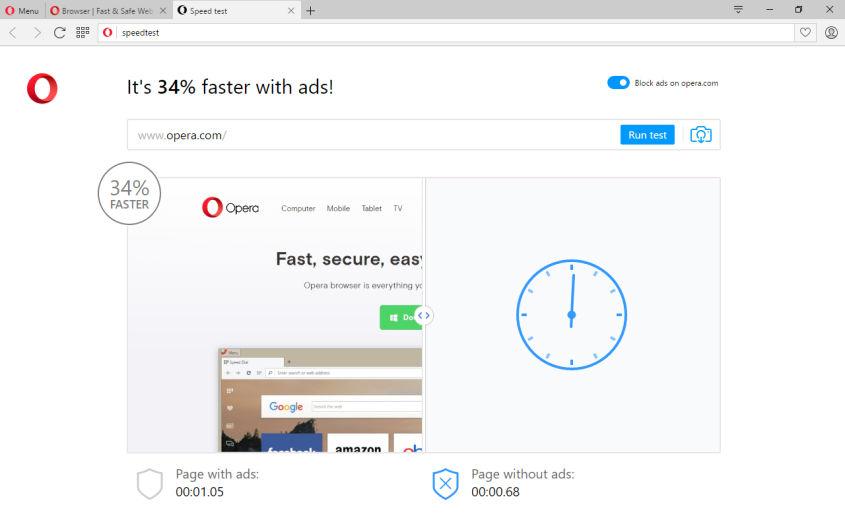Le bloqueur de publicités sur Opera va arriver dans la version bureau et mobile