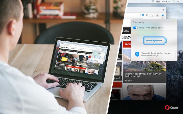 Vous voulez doubler l'autonomie de votre ordinateur portable ? Essayez Opera