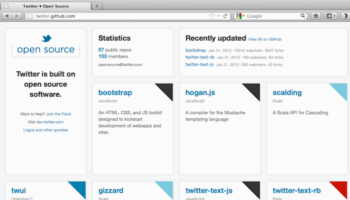 Twitter renouvelle sa page GitHub afin d