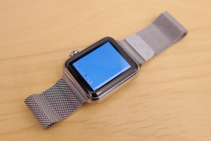 Voici Windows 95 en cours d'exécution sur une Apple Watch