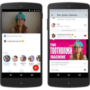 YouTube lance son service de messagerie sur iOS et Android