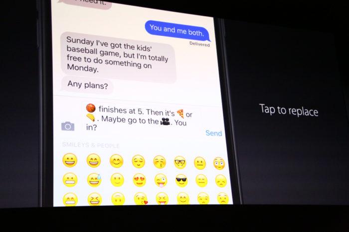 iOS 10 : les emojis ont une belle place dans l'OS