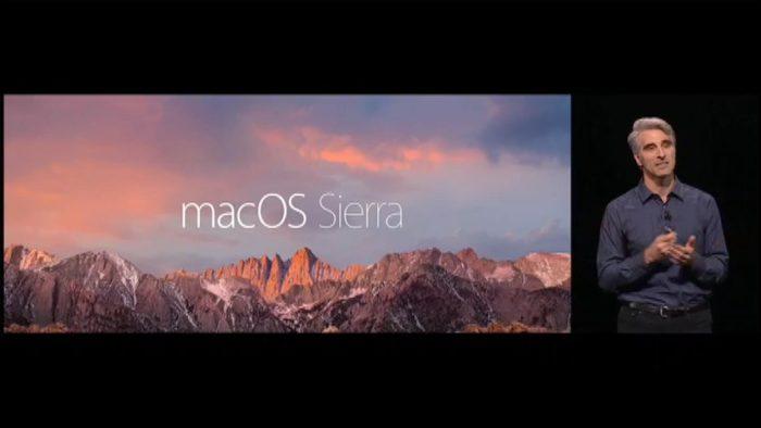 Apple a annoncé macOS Sierra