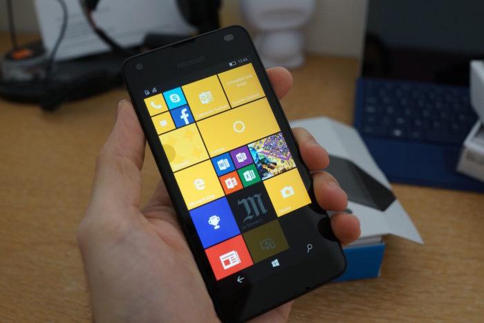 Lumia 550 : vue de face