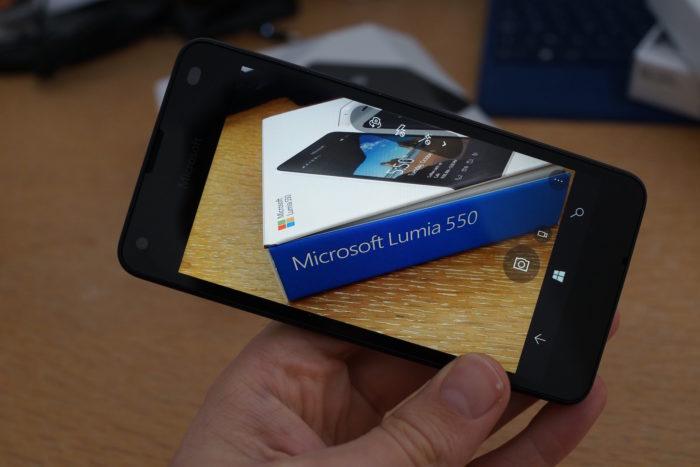 Lumia 550 : un appareil photo décent