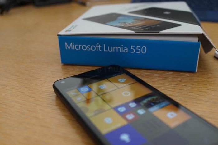 Lumia 550 : un bon smartphone