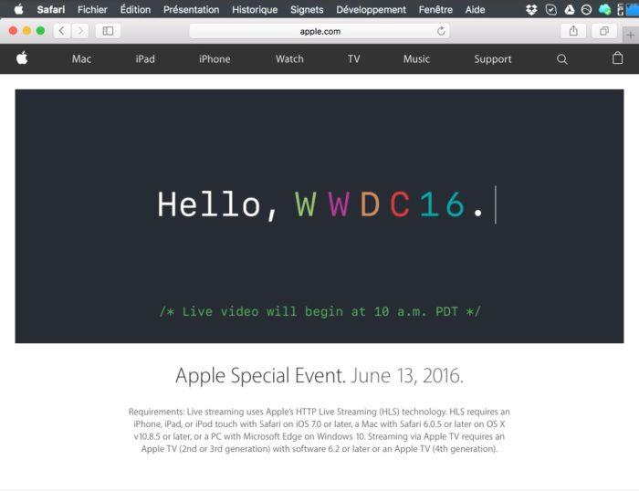 Regardez la keynote d'Apple sur Safari
