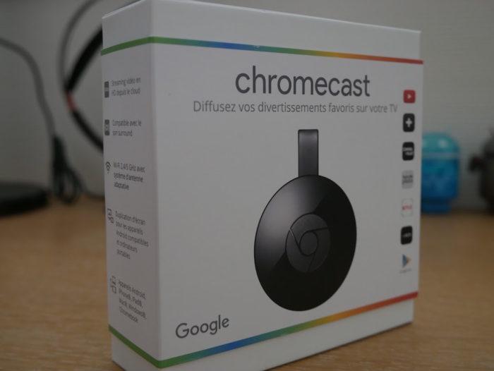 Chromecast 2015 : face avant de la boîte