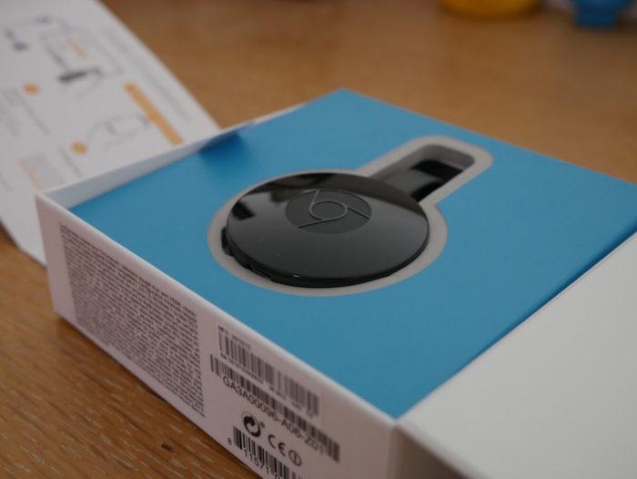 Chromecast 2015 : le voici dans sa boîte