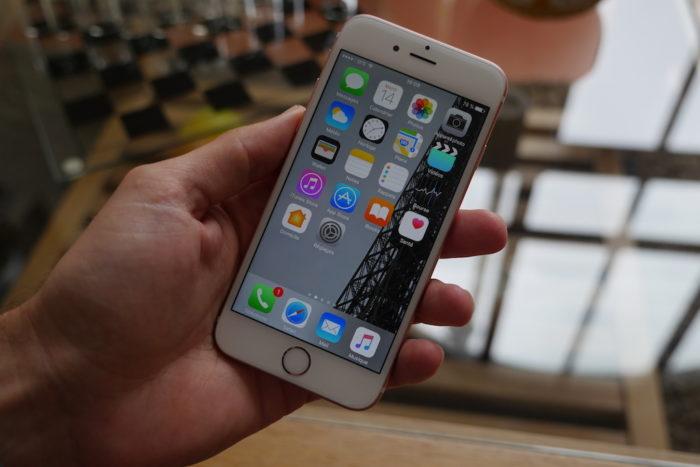 iOS 10 : écran d'accueil