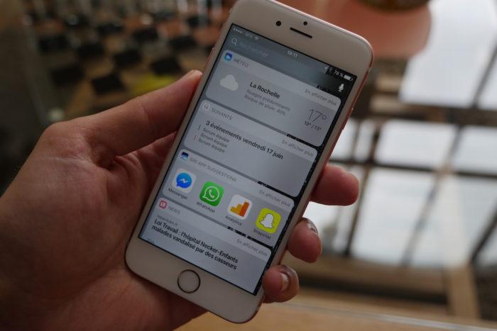 iOS 10 : widgets