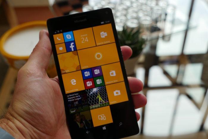 Microsoft Lumia 950 XL : vue de face