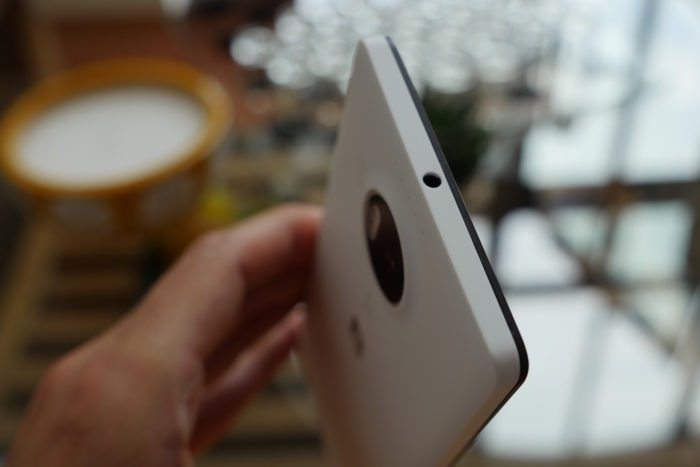 Microsoft Lumia 950 XL : vue de dessus