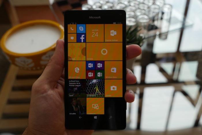 Microsoft Lumia 950 XL : écran d'accueil