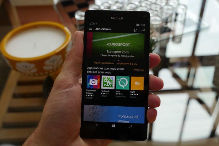 Microsoft Lumia 950 XL : Windows Store