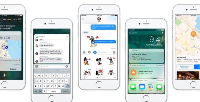iOS 10 met à l'écart certains des iDevices les plus anciens