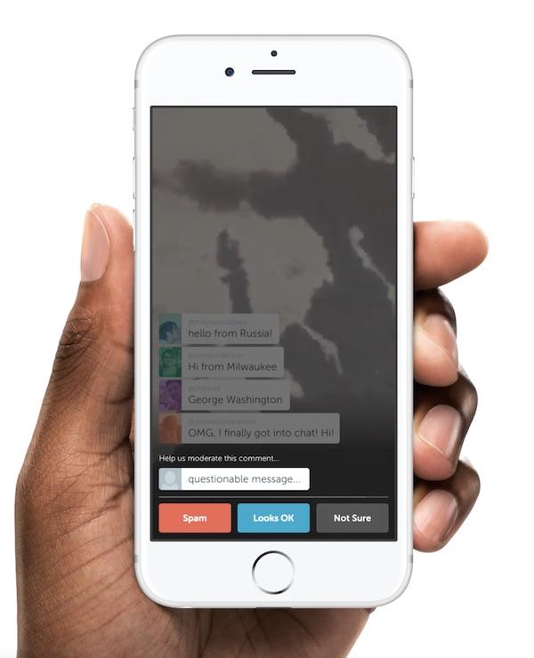 Periscope : système de vote pour la modération