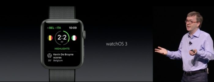 watchOS 3 devient plus rapide
