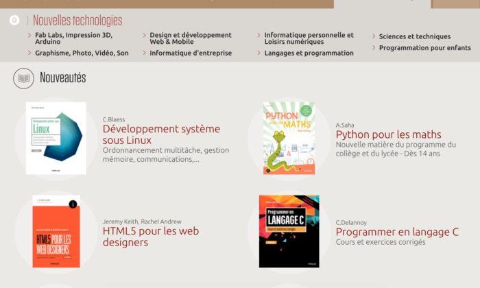 """Livres Eyrolles dans la section """"Nouvelles technologies"""""""