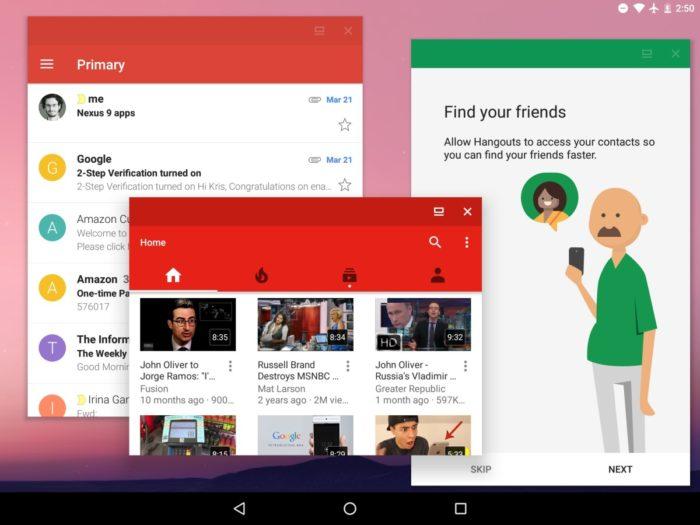 Un des plus grands changements dans Android N est le support natif multifenêtre