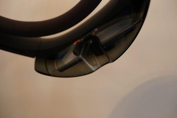 Microsoft HoloLens : vue du protège-nez