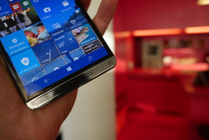 HP Elite x3 : un chouette grille pour le haut-parleur