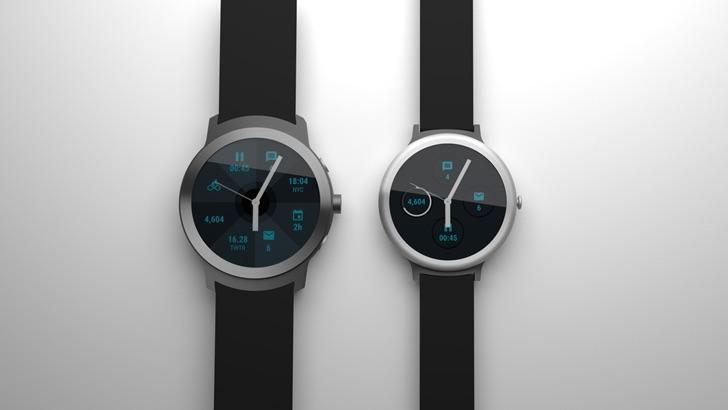 Premier rendu pour Angelfish et Swordfish, les deux montres de Google