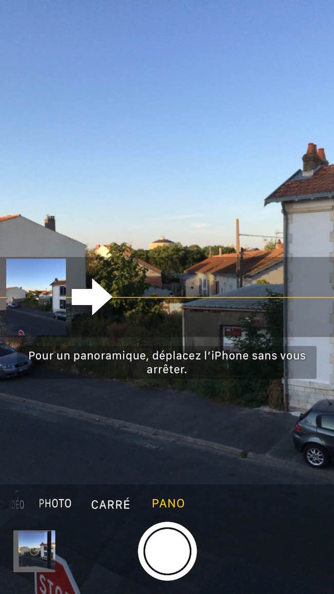 Le mode panorama sur l'iPhone peut faire des photos à 360 degrés assez légères