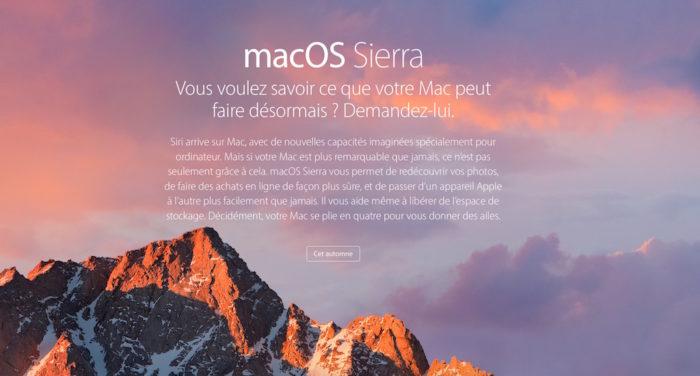 macOS Sierra arrive cet automne