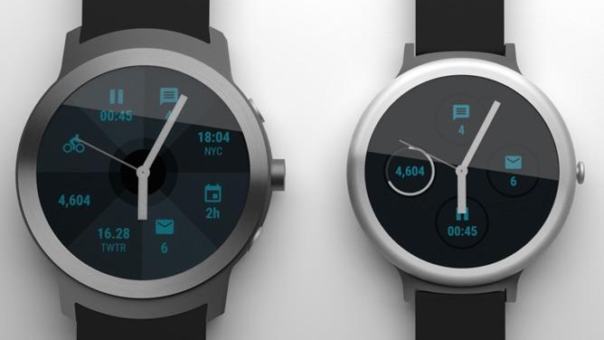 Rendu des smartwatches Nexus de Google