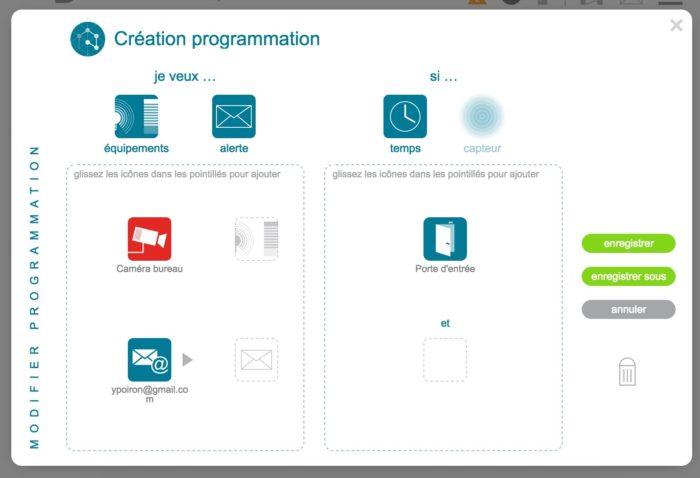 Somfy TaHoma : création d'une programmation