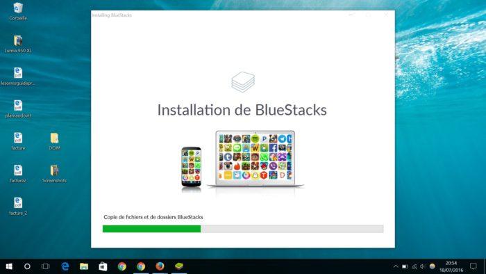 Installation BlueStacks
