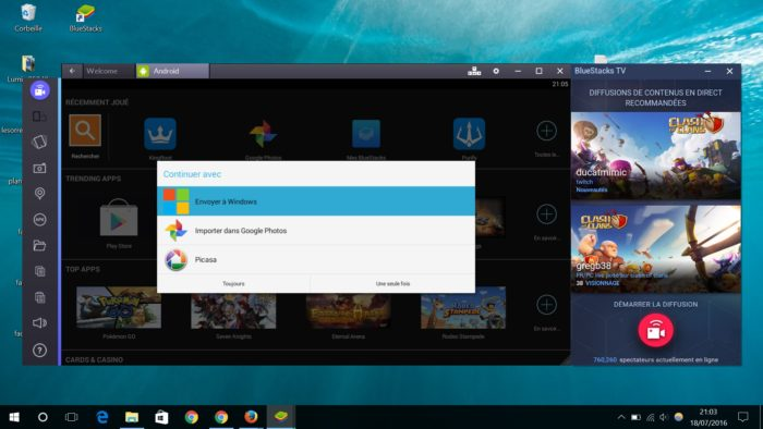 Copie des fichiers Windows