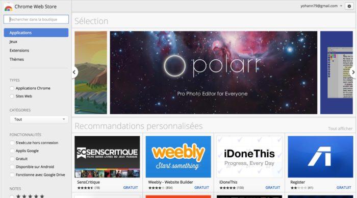 Les applications (Web) Chrome vont disparaître du Chrome Web Store