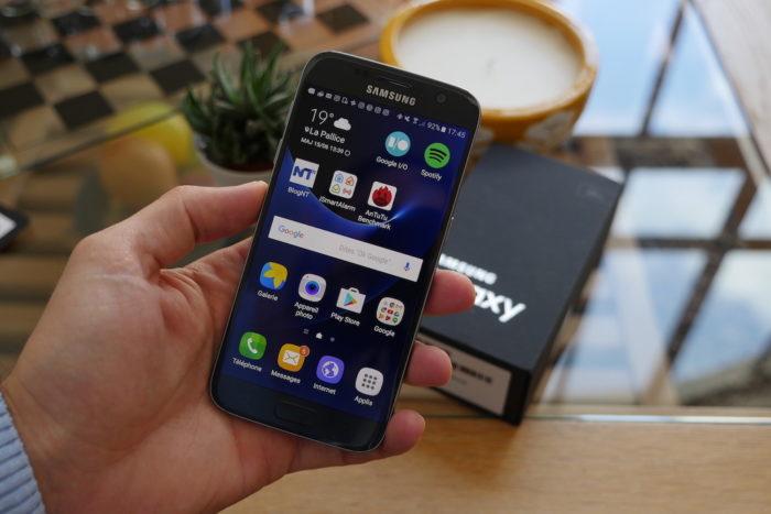 Samsung Galaxy S7 : vue de face