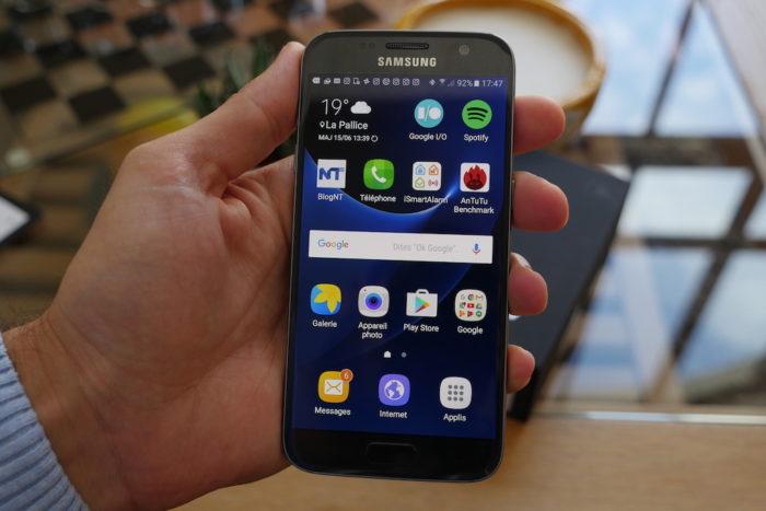 Samsung Galaxy S7 : on retrouve des icônes plus arrondies