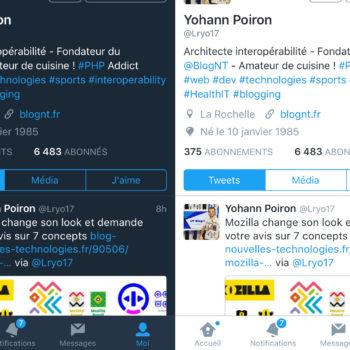 Twitter Mode Nuit sur iOS