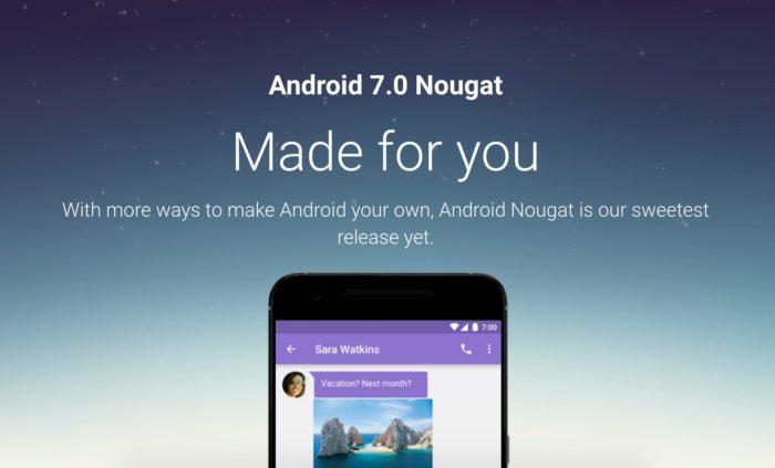 Android 7.0 Nougat est déployé sur les Nexus