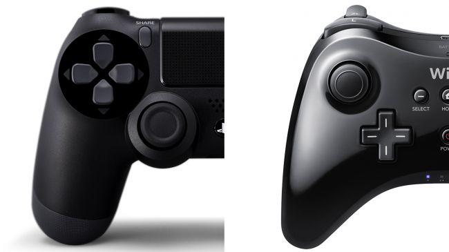 Selon la rumeur, le nouveau D-pad de la manette de la NX ressemblera davantage à celui de la PS4 (à gauche) que celui de la Wii U (à droite)