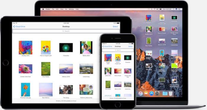 iCloud Drive - Votre bureau et votre dossier Documents. Accessibles depuis tous vos appareils