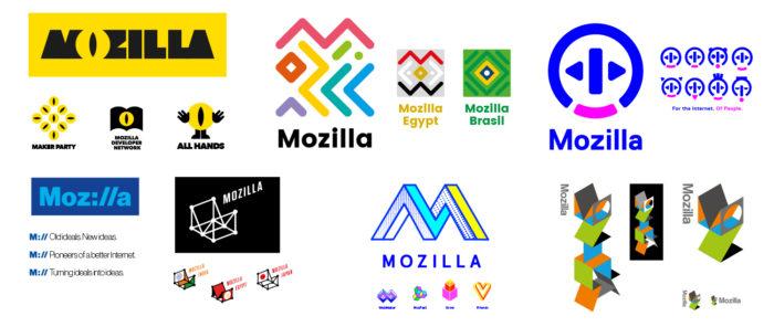 Les logos de Mozilla reposent sur des couleurs vives